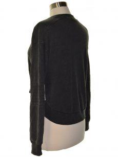 Material Girl Juniors Size Medium M Charcoal Sweatshirt Sweater