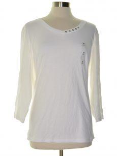 Karen Scott Plus Size 2X White Pullover Top