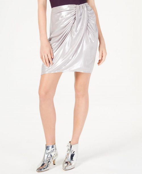 INC Women Size 8 Silver Pencil Skirt