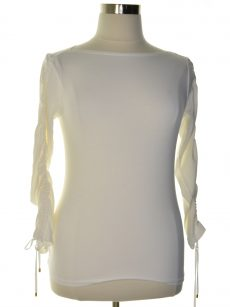 Lauren Ralph Lauren Women Size Medium M White Pullover Top
