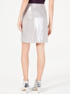 INC Women Size 4 Silver Pencil Skirt