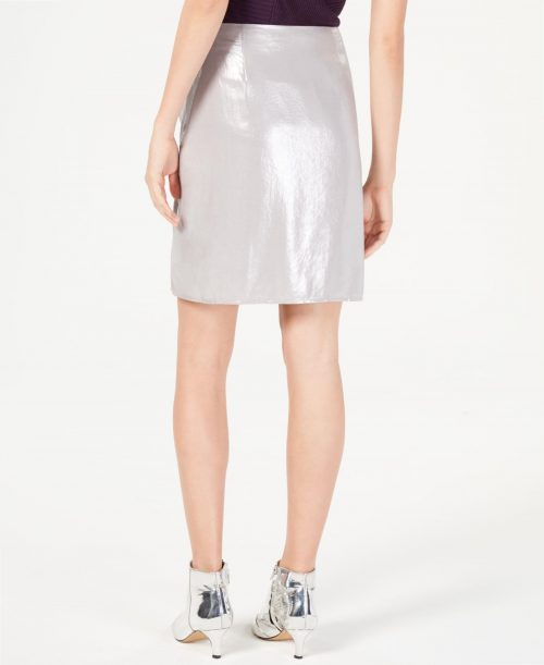 INC Women Size 8 Silver Pencil Skirt