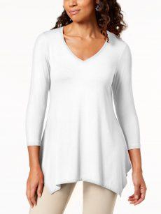 JM Collection Women Size XS White Blouse Top