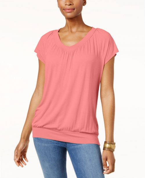 JM Collection Women Size Small S Pink Pullover Top