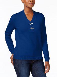 Karen Scott Petites Size PXL Blue Pullover Sweater