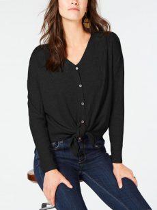 Style & Co. Women Size XXL Black Button Down Shirt Top