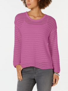 Style & Co. Women Size Medium M Purple Pullover Sweater