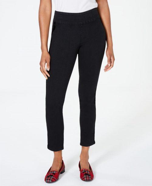 Charter Club Women Size 12 Black Ankle Jeans