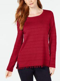 Charter Club Women Size XS Red Sweatshirt Sweater