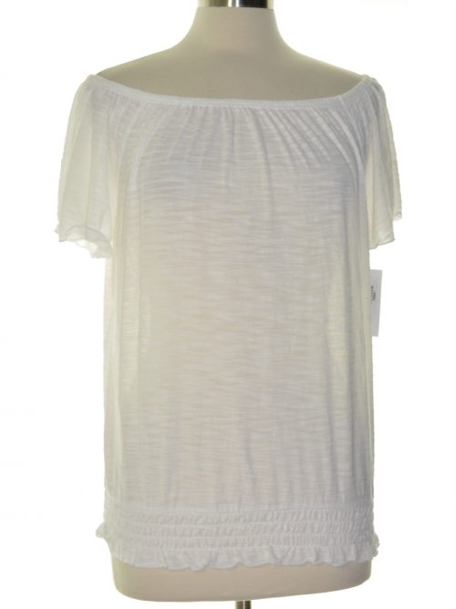 Style & Co. Women Size Medium M White Pullover Top