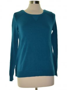 Karen Scott Women Size XS Teal Pullover Sweater