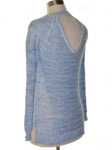NY Collection Petites Size PS Blue Pullover Sweater