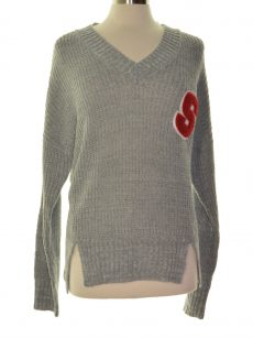 Ultra Flirt Juniors Size Medium M Grey Pullover Sweater
