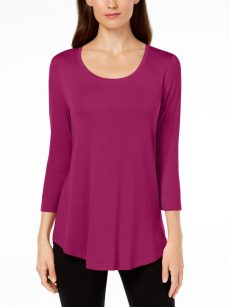JM Collection Women Size XS Magenta Pullover Top