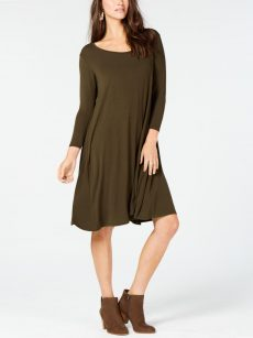 Style & Co. Petites Size PS Dark Green Blouson Dress