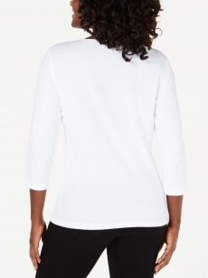 Karen Scott Petites Size PL White Pullover Top