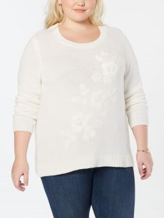 Style & Co. Plus Size 2X Off White Pullover Sweater