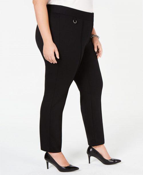 Alfani Plus Size 24W Black Skinny-Leg Pants