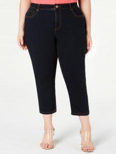 INC Plus Size 16WP Blue Cropped Jeans