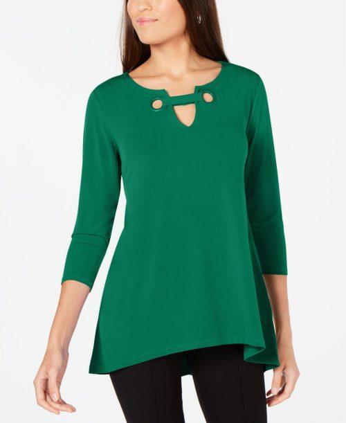 Alfani Women Size Medium M Dark Green Blouse Top