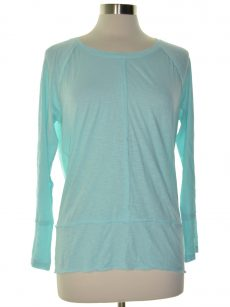 Style & Co. Petites Size PS Aqua Blue Pullover Top