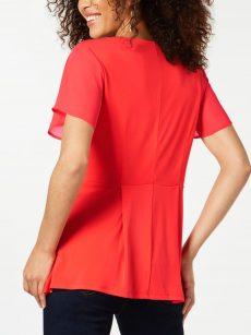 Thalia Sodi Women Size Small S Coral Fire Pullover Top