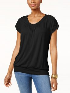 JM Collection Women Size XS Black Pullover Top