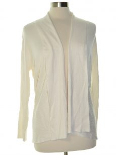 JM Collection Petites Size PXL Eggshell Cardigan Sweater