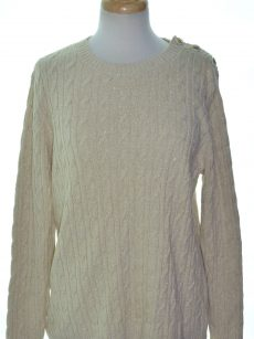 Charter Club Women Size XL Eggshell Pullover Sweater