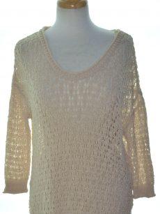 Rachel Roy Women Size Small S Beige Pullover Sweater