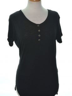 Rebellious One Juniors Size Small S Black Casual Top