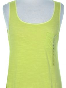 Jones New York Women Size Small S Yellow Green Tank Top Athletic