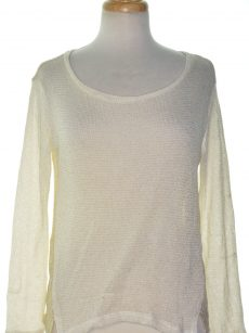 Bar III Women Size XS White Beige Pullover Sweater
