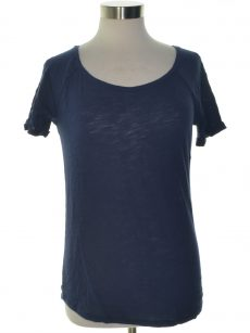 Maison Jules Women Size Small S Navy Basic T-Shirt Top