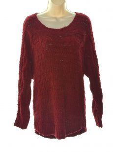INC Women Size Medium M Dark Red Pullover Sweater