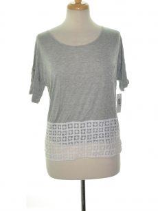 Kensie Women Size Medium M Gray Blouse Top