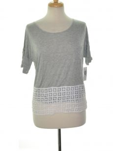 Kensie Women Size Medium M Gray Blouse Top
