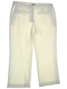 Bar III Women Size 10 White Cropped Pants