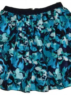 Speechless Juniors Size 9 Multi Blue Pleated Skirt