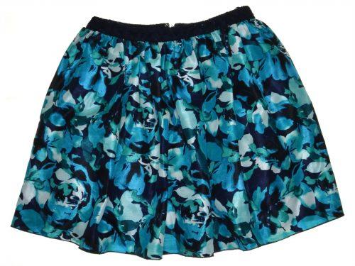 Speechless Juniors Size 9 Multi Blue Pleated Skirt