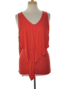 Kensie Women Size Medium M Red Tank Top