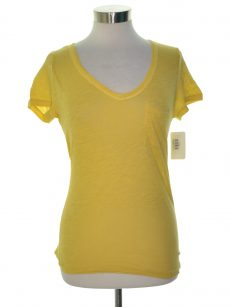 Maison Jules Women Size XS Yellow Basic T-Shirt Top