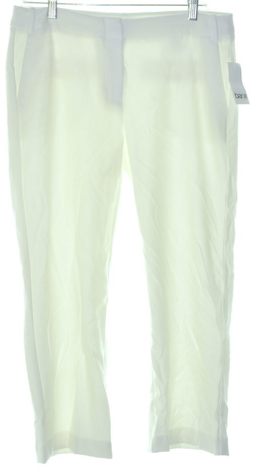 Bar III Women Size 6 Washed White Culottes Pants