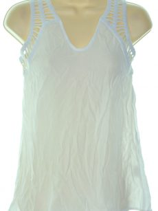 Bar III Women Size XS Washed White Tank Top