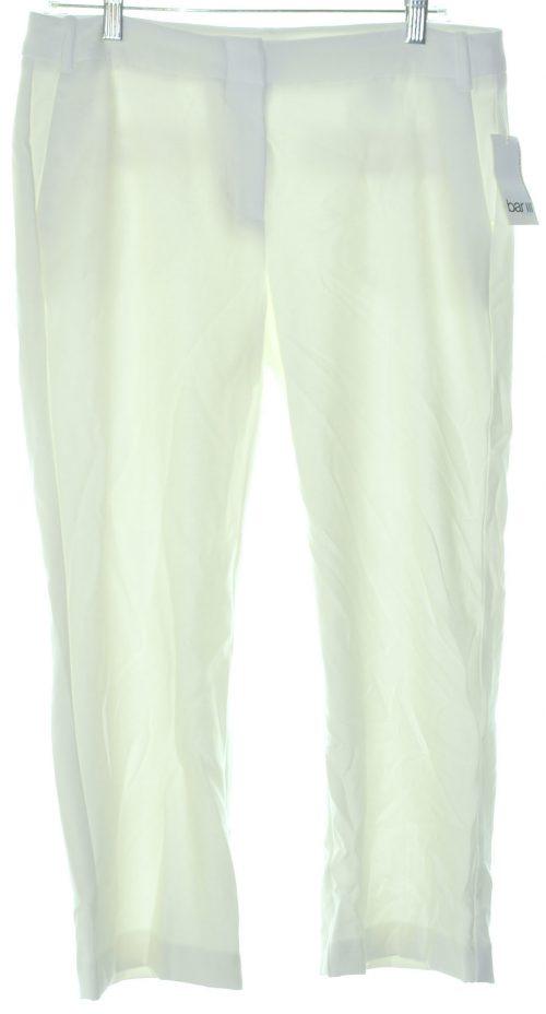 Bar III Women Size 8 Washed White Culottes Pants