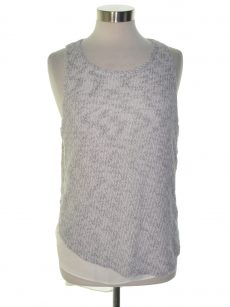Bar III Women Size Large L Taupe White Tank Top