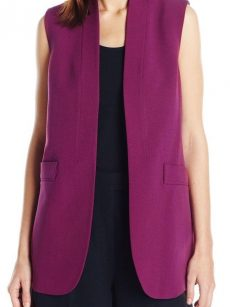 Anne Klein Women Size 16 Purple Vest