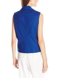 Anne Klein Women Size 4 Blue Vest
