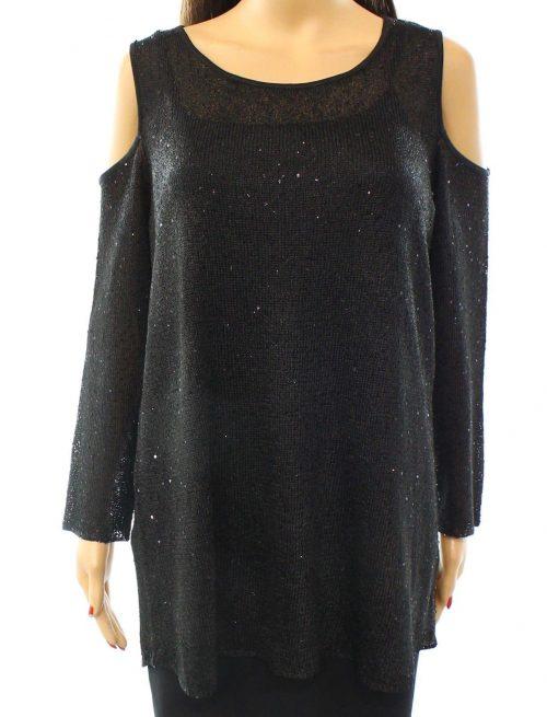 Alfani Women Size Medium M Black Casual Sweater
