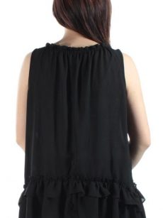Bar III Women Size Small S Black Peasant Top
